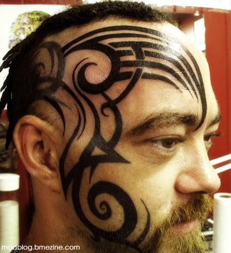 Facial tattoos by tattoo joe bme tattoo piercing and for Tattoo places in ct