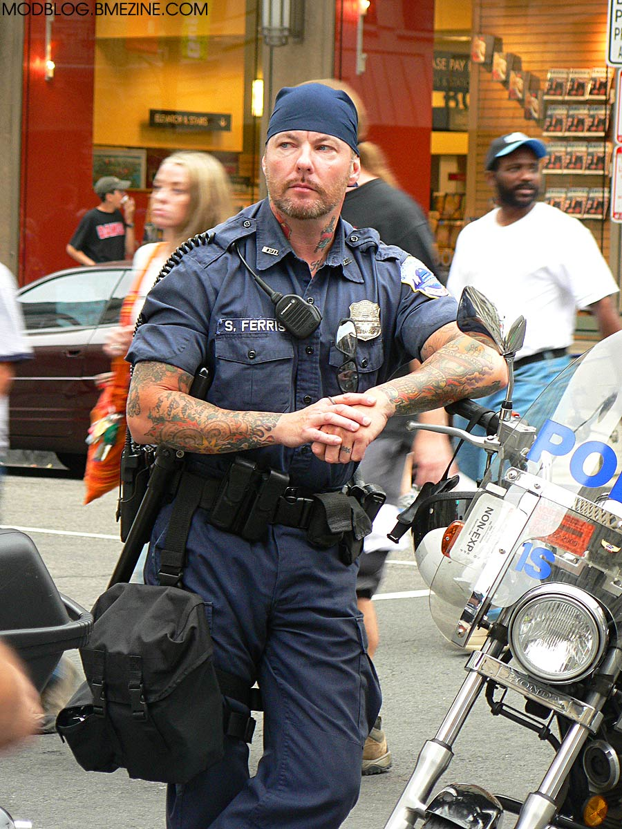 Tattooed Motorcycle Police Bme Tattoo Piercing And Body Modification News
