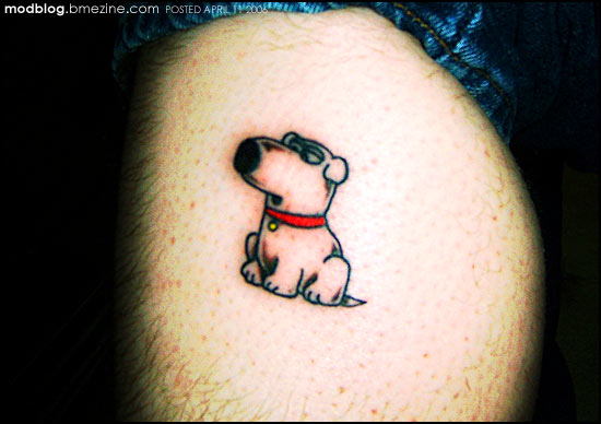 Brian griffin tattoo family guy bme tattoo piercing for Family guy tattoos