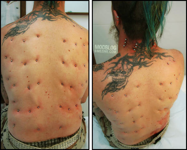 Oldschool Surface Piercing Bme Tattoo Piercing And Body