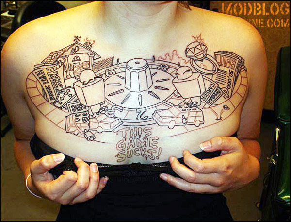 The game of life tattoo bme tattoo piercing and body for Tattoo artists kalamazoo mi