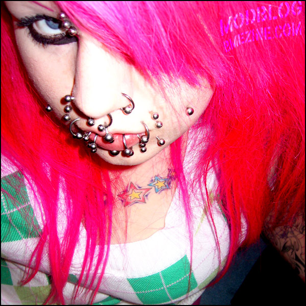 At first it was the gawdy fake gemstone nose piercing with the stem