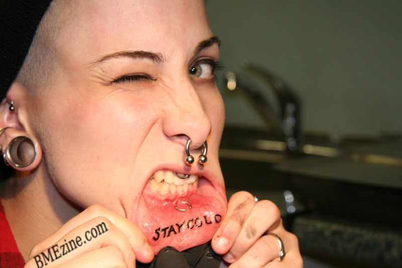 Inner Lip Tattoo