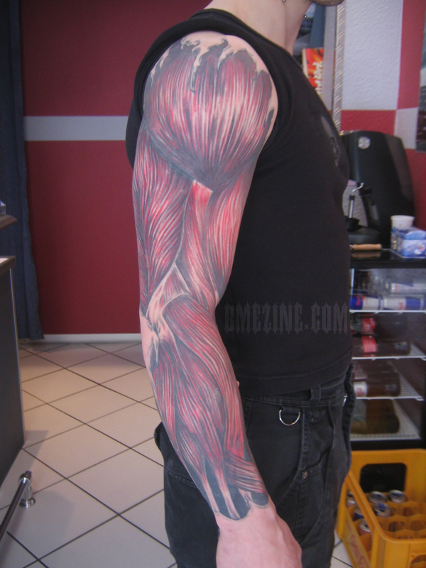 Muscle Tattoo Sleeve: I Wear My Muscles On My Sleeves