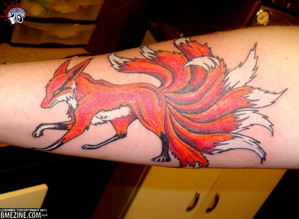 Traditional japanese fox tattoo - photo#14