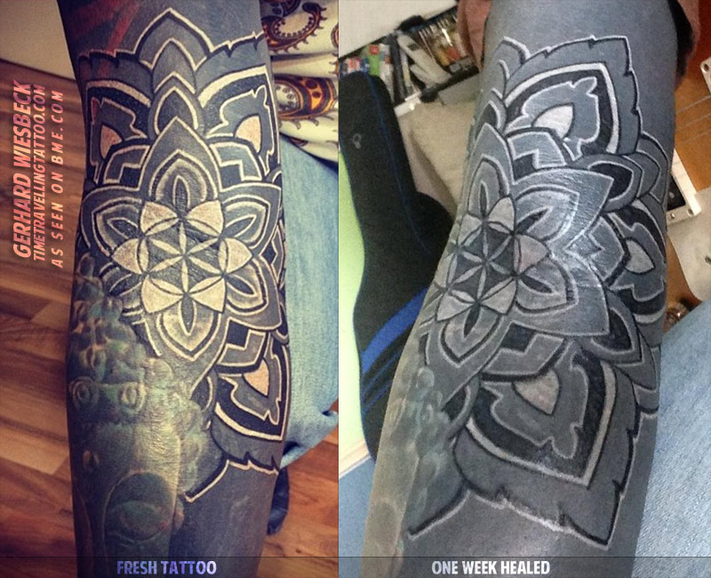 When Is Tattoo Healed: White And Black Tattooing Over Healed Blackwork