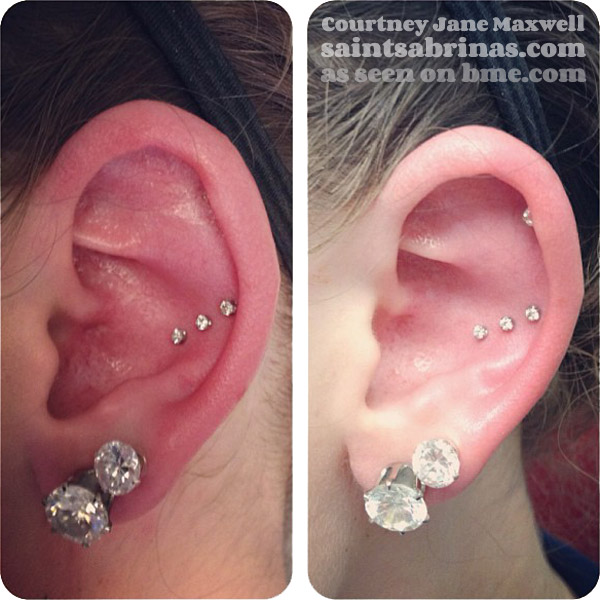 unusual conch piercing
