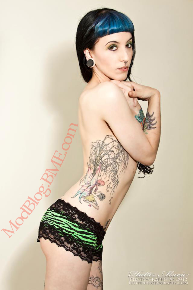Photographed by: Hatter Marie Side piece by: Tyler Murphy (Sins of Style - CT, SA) Heart sub dermal: Steve Truitt