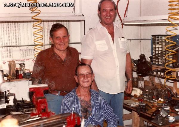 Emil Gundelach, Big Ed Fenster and Mev Chapman (seated)