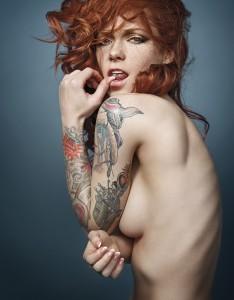 Tattooed model Hattie Watson photography by Christian Saint.